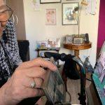 elderly digital walk